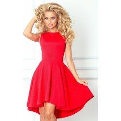 2b081f5a596 Dámské šaty Numoco dámské společenské šaty s asymetrickou sukní krátké  červená