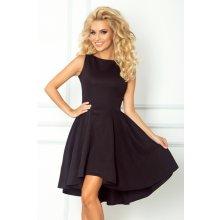 538539afbb1 Numoco luxusní dámské společenské a plesové šaty s asymetrickou sukní černá
