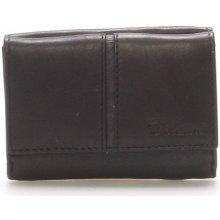 Delami Peněženky Kožená černá peněženka 9386 Černá
