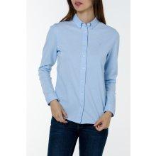 Gant dámská Košile GANT OXFORD JERSEY SHIRT modrá