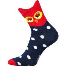 Boma dámské ponožky Xantipa sovičky modrá