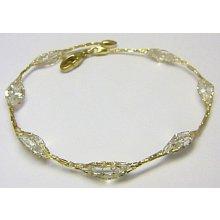Náramek zlatý ozdobný ve zlaté síťovině H275