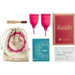 Recenze Moskito menstruační kalíšky s příslušenstvím A+B růžový 2 ks
