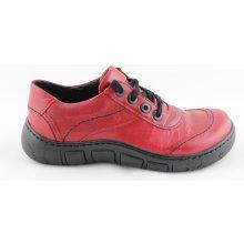 Kacper 2-0552 Dámské boty červené 79dc622c860