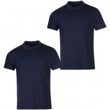 Donnay Two Pack Polo Shirts Mens Navy