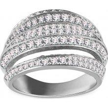 iZlato Design Třpytivý stříbrný prsten se zirkony IS2747 2bac8ba7fee