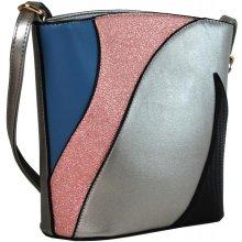 Sun-bags barevná crossbody kabelka F002 stříbrná