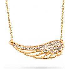 iZlato Forever Zlatý náhrdelník Andělské křídlo se zirkony IZ13609 c5fcd92552