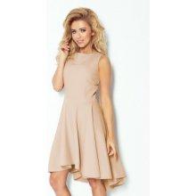 Numoco luxusní dámské společenské a plesové šaty bez rukávu béžová 9dd53ce1c5