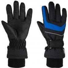 Loap Renko dětské zimní rukavice černá   modrá 16c69aeccd
