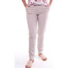 50963a35a9a Dámské elastické elegantní kalhoty - béžové
