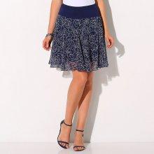 Blancheporte dámská rozšířená sukně s potiskem květin modrá
