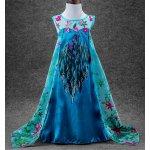 Kostým / šaty Frozen Ledové království Elsa modrý bez rukávů