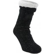 Mega Value dámské pruhy Thermal ponožky Purple