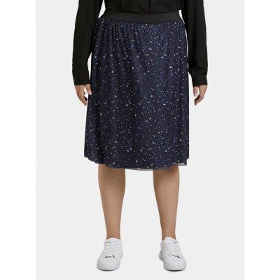 My True Me Tom Tailor dámská vzorovaná sukně tmavě modrá