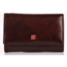 Genevian peněženka kožená dámská 2310 hnědá