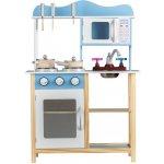 EcoToys Dřevěná kuchyňka pro děti s příslušenstvím