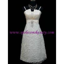 62e22e47f Bílé krémové krátké společenské šaty koktejlky na svatbu svatební ...