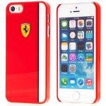 Pouzdro FERRARI Apple iPhone 5   5S   SE - plastové - logo Ferrari - červené 9efea89167a