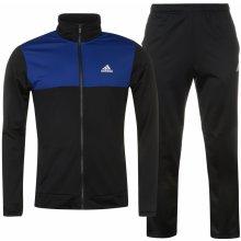 Adidas Basics Poly Tracksuit Mens Black/Blue