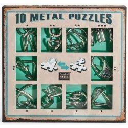 Sada 10 kovových hlavolamů Zelená