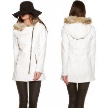 KouCla kabát křivák s kapucí bílý