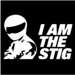 842957ef312 Bezvatriko.cz 0030 Pánské tričko I am the Stig Černá