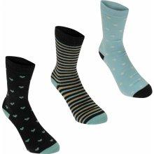 Kangol Formal ponožky dámské Blue Hearts 3 pack