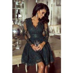 d6cb90971e1e Dámské šaty Krátké krajkové šaty Amelie khaki