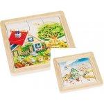 Goki Dřevěné puzzle 4 vrstvy ROČNÍ OBDOBÍ