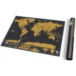 Cestovní stírací mapa světa Deluxe