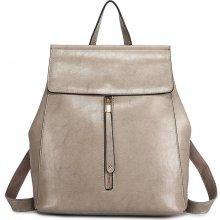 Miss Lulu 2v1 dámský kožený batoh a kabelka přes rameno E6833 šedý b289821a45