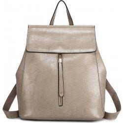 Batoh Miss Lulu 2v1 dámský kožený batoh a kabelka přes rameno E6833 šedý e535eb95f0