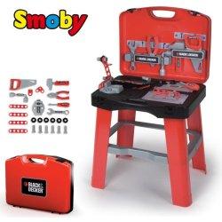SMOBY 500240 Black&Decker READY2GO pracovný stôl skladací do kufrika + 25 doplnkov Heureka.cz