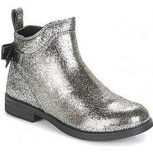 f10fc6f4312 Geox Kotníkové boty Dětské JR AGATA stříbrná