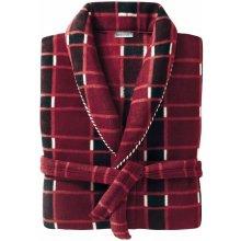 Blancheporte domácí kabát z polar fleecu kostka bordó