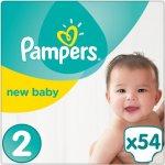 Pampers New Baby-dry essential 2 jednorázové 54 ks