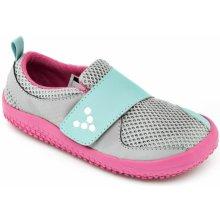 Vivobarefoot PRIMUS MINI K Mesh Grey Pink 8c1ff520ce