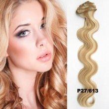 Clip in sada de-luxe, vlnitá, odstín 27/613 - mix blond