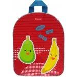 KIDZROOM batoh Veggies banán,červený
