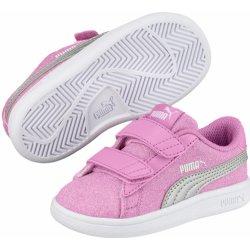 Dětská bota Puma Dívčí tenisky Smash v2 Glitz Glam - růžové 63db53c705