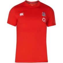 Canterbury England Rugby Cotton T Shirt Mens Red