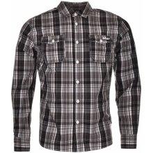 Lee Cooper Long Sleeve Check Shirt Mens Black/White