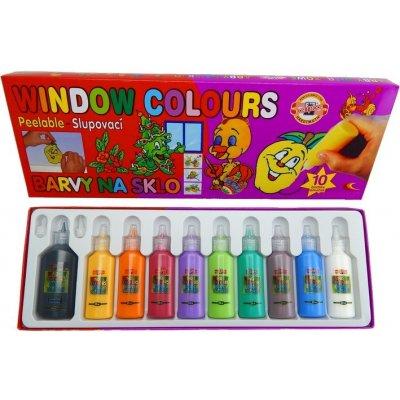 KOH-I-NOOR Barvy na sklo 9740 set
