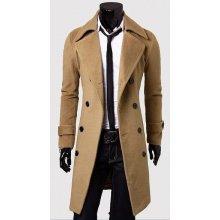 80644ca3e Pánský dlouhý kabát Libero béžový