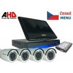 Kamerový systém Securia Pro LCD-AHD4CHV1, 4x kamera, LCD box