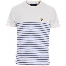 Lyle And Scott Mens Breton Stripe T Shirt Blue