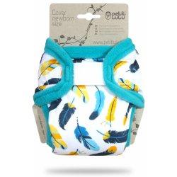 Petit Lulu Tyrkysová peříčka novorozenecké svrchní kalhotky d1bbe3b4b6