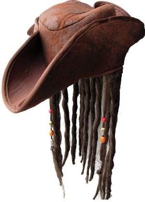 WICKED Pirátský klobouk s vlasy a korálky 0aac26e65a