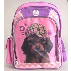 Beniamin školní batoh Sweet Pets růžovofialový s pejskem 29x38x12 cm Heureka.cz